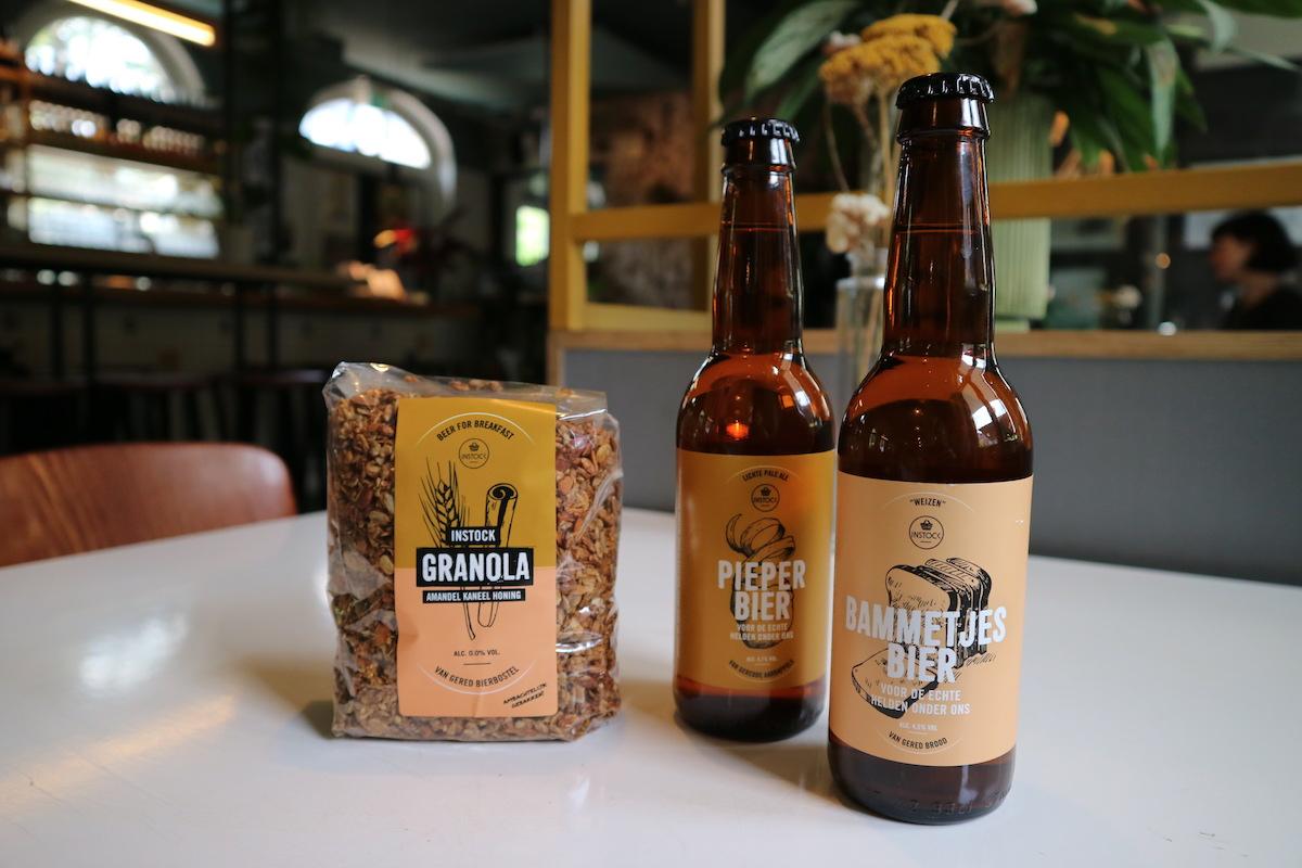 Bier van voedseloverscho