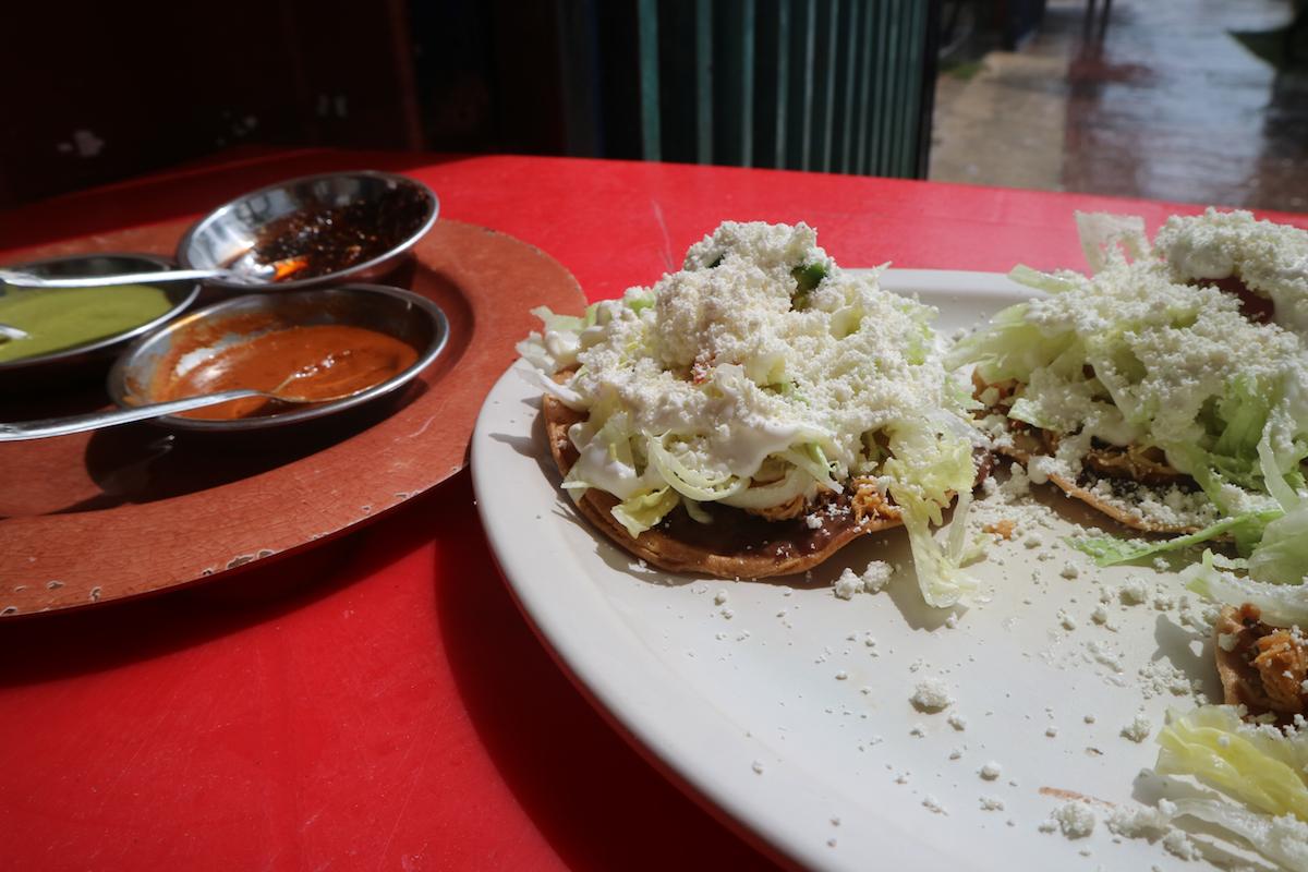 Mexicaans eten tostada