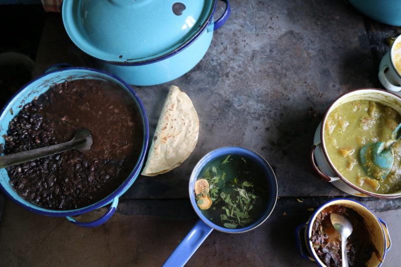 Vegetarische taco's met aubergine