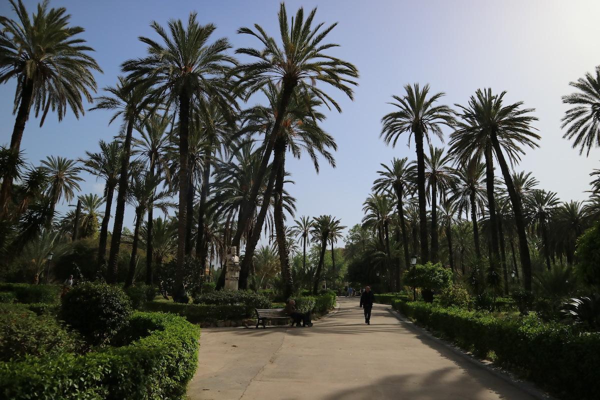 Palermo park bij paleis