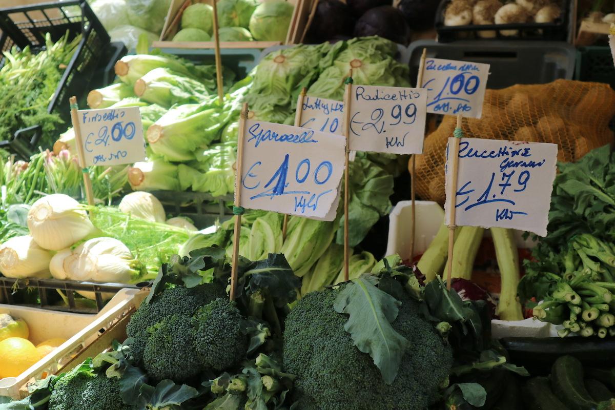 verse groenten markt palermo